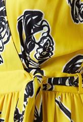 Sabine Yellow Print Dress