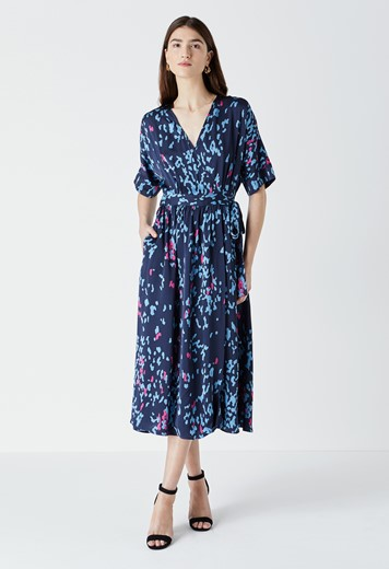Sabine Printed Wrap Dress