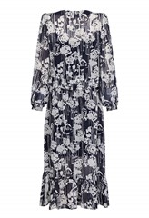 Martel Printed Long Sleeve Dress