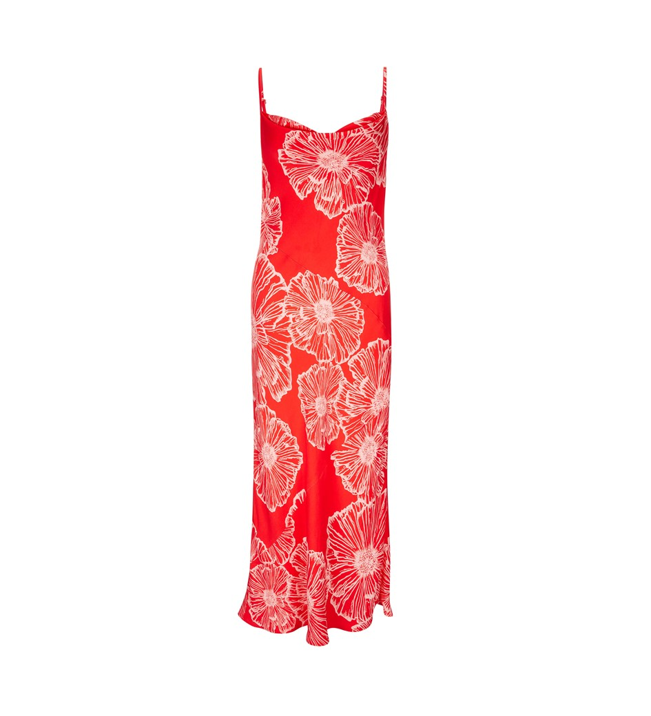 Amela Printed Slip Dress