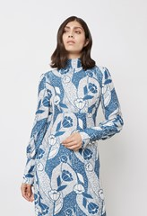 Isla Print Midi Dress