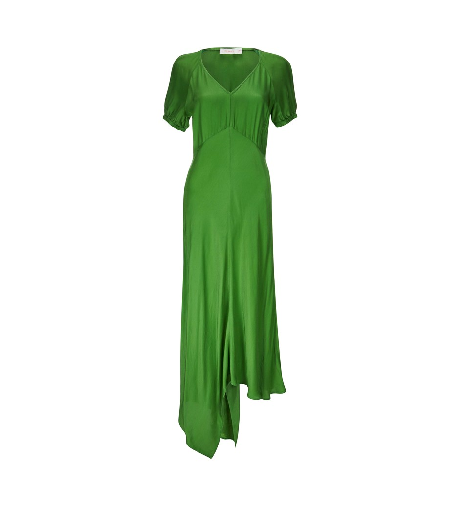 Harley Green Asymetric Dress