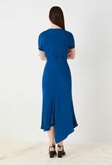 Harley Blue Asymmetric Dress