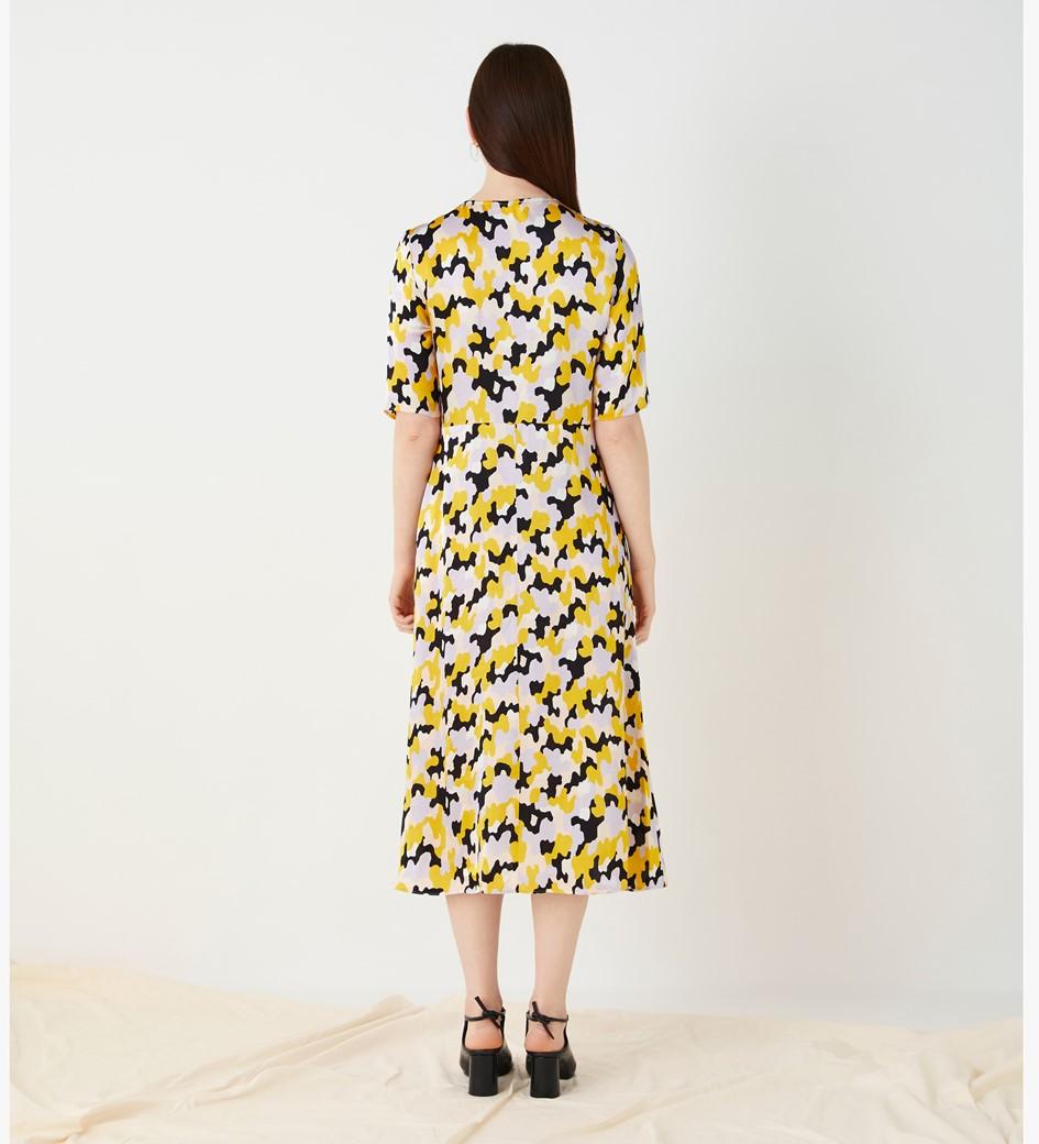 Libby Printed Satin Dress
