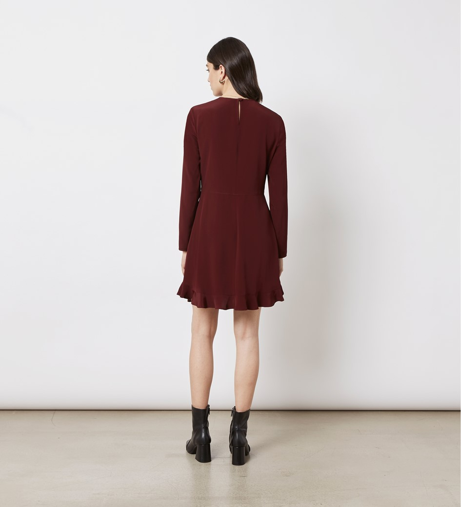 Finchley Burgundy Mini Dress