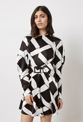 Leona Belted Print Mini Dress
