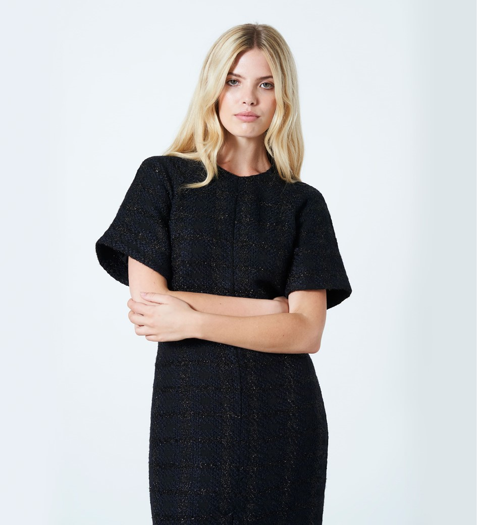 Cedar Lurex Tweed Dress