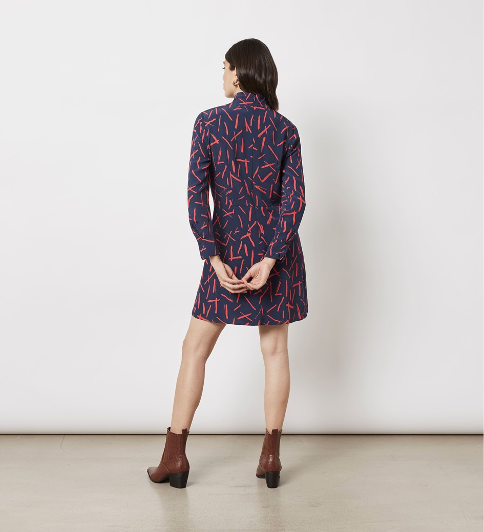 Elena Printed Mini Dress