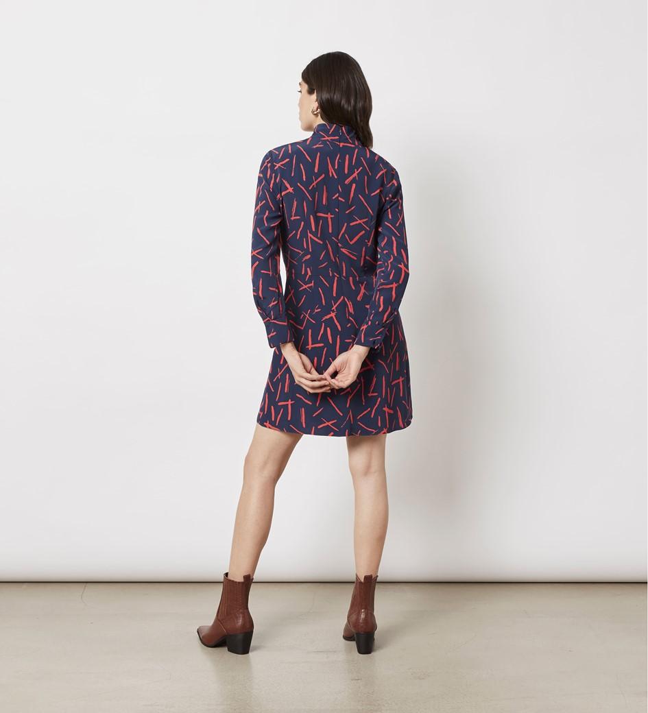 Elena Printed Mini Dress