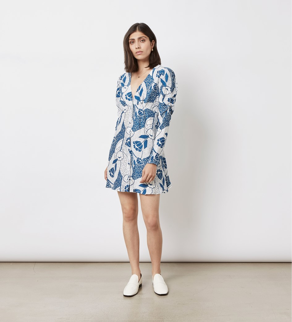 Catalina Printed Mini Dress