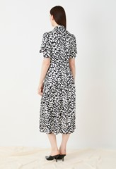 Elizabeth Satin Printed Dress