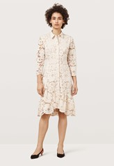 Sydall Fawn Frilled Hem Lace Dress