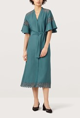 Tidal Sea Green Lace Detail Dress