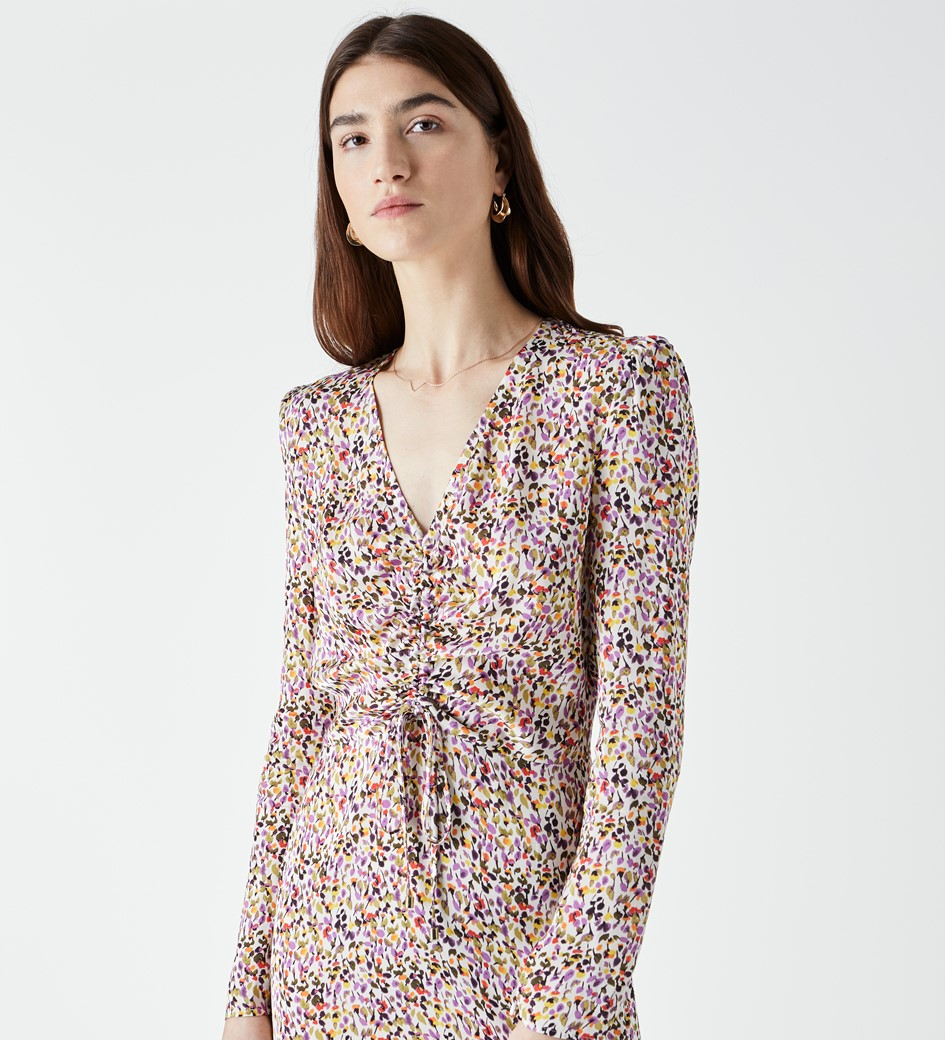 Edwin Printed Midi Dress