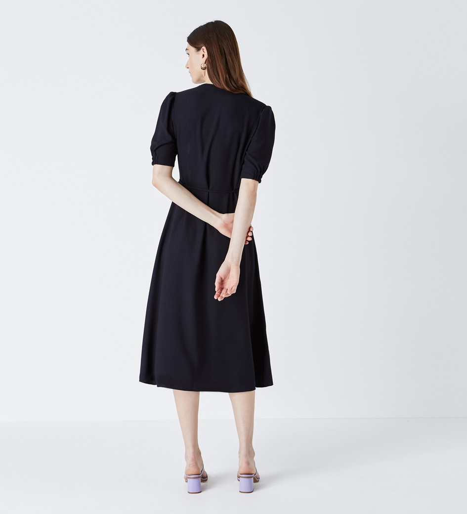 Etty Navy Wrap Dress
