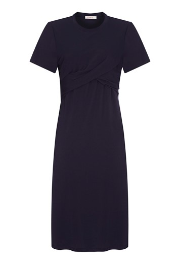 Edis Navy Jersey Dress
