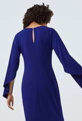 Courtfield Blue Split Sleeve Jersey Dress