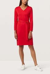 Elm Crimson Belted Shift Dress