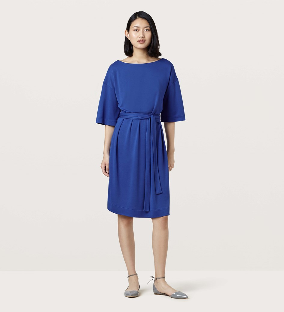 Hatcliffe Cobalt Jersey Shift Dress