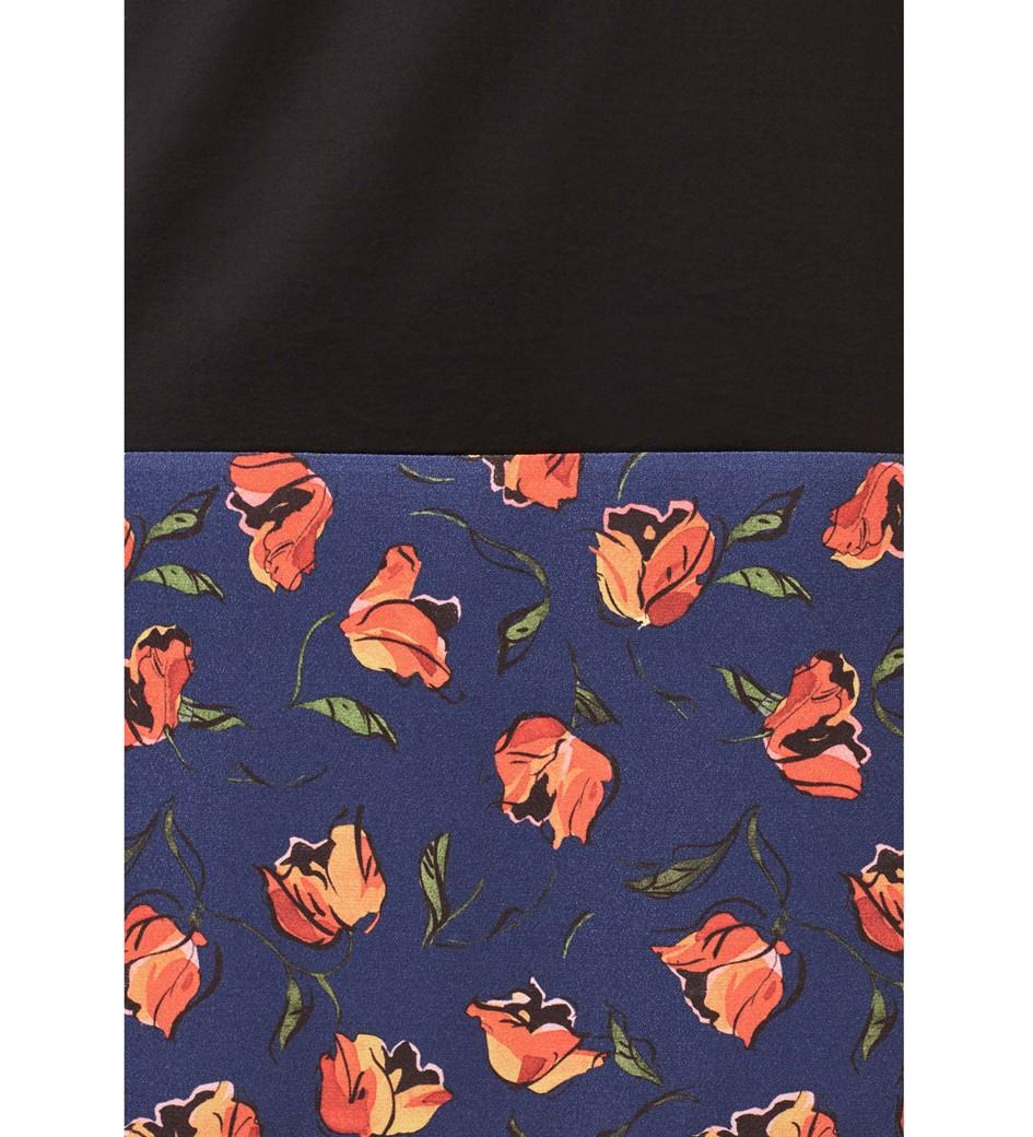 Fleet Peony Blooms Floral Panel Tunic Dress