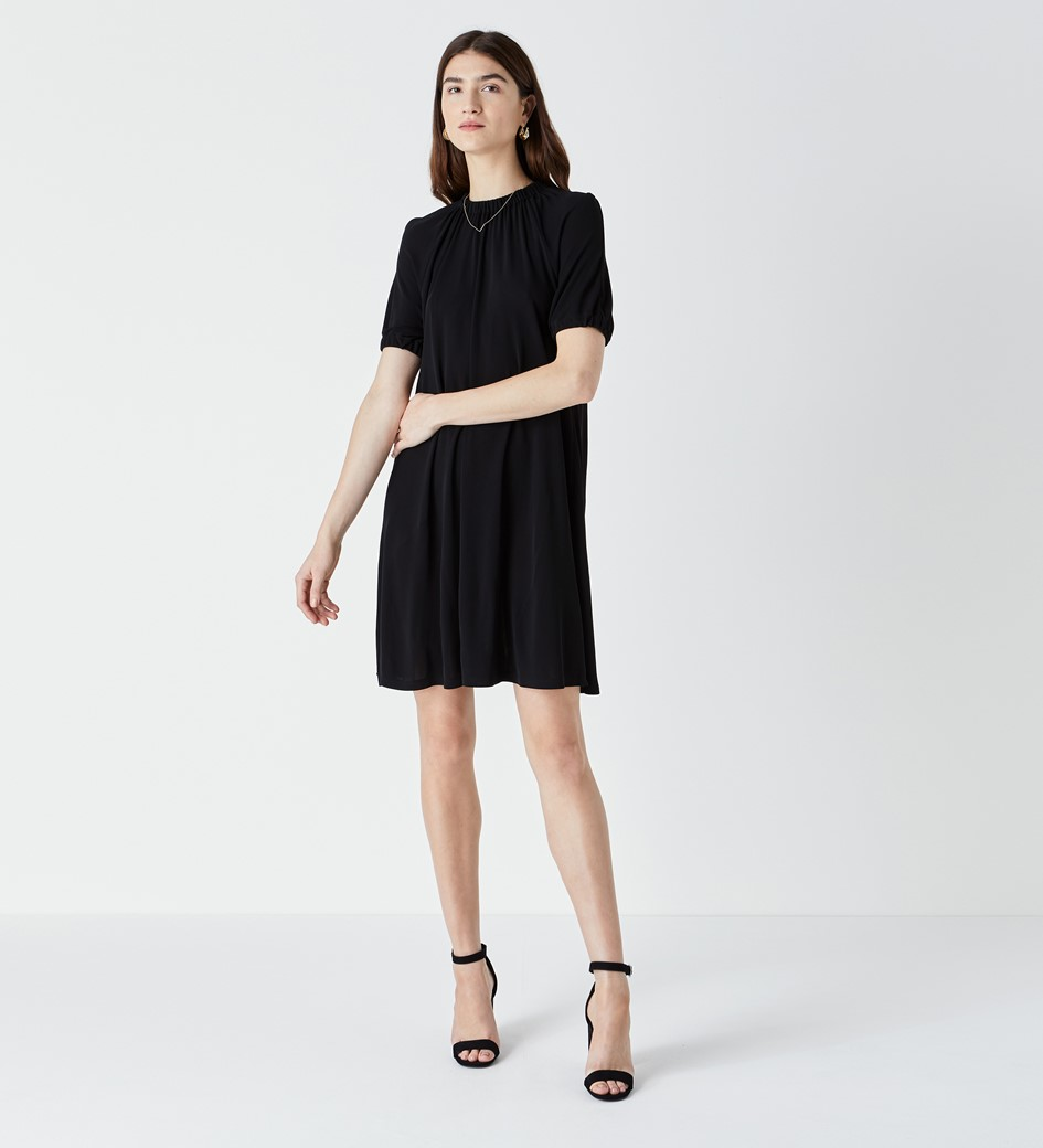 Riley Gather Neck and Sleeve Dress