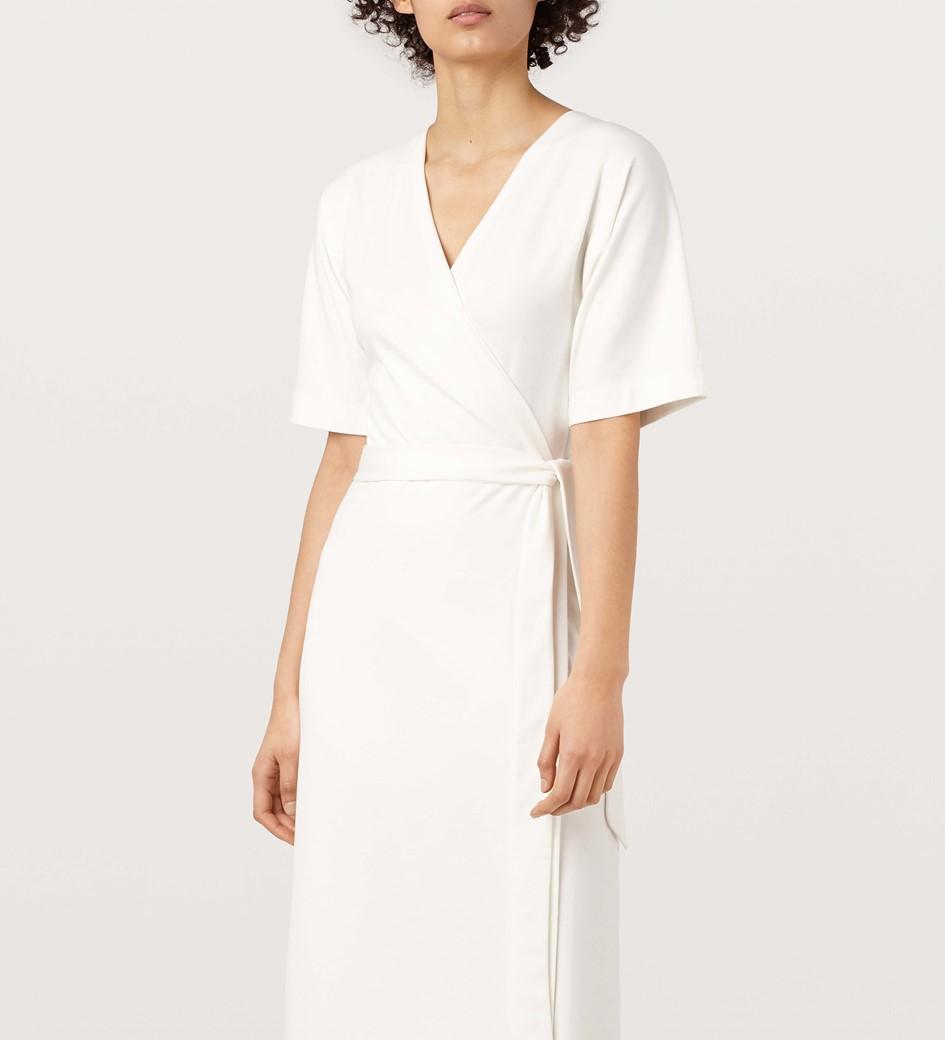 Garden Ivory Kimono Wrap Dress