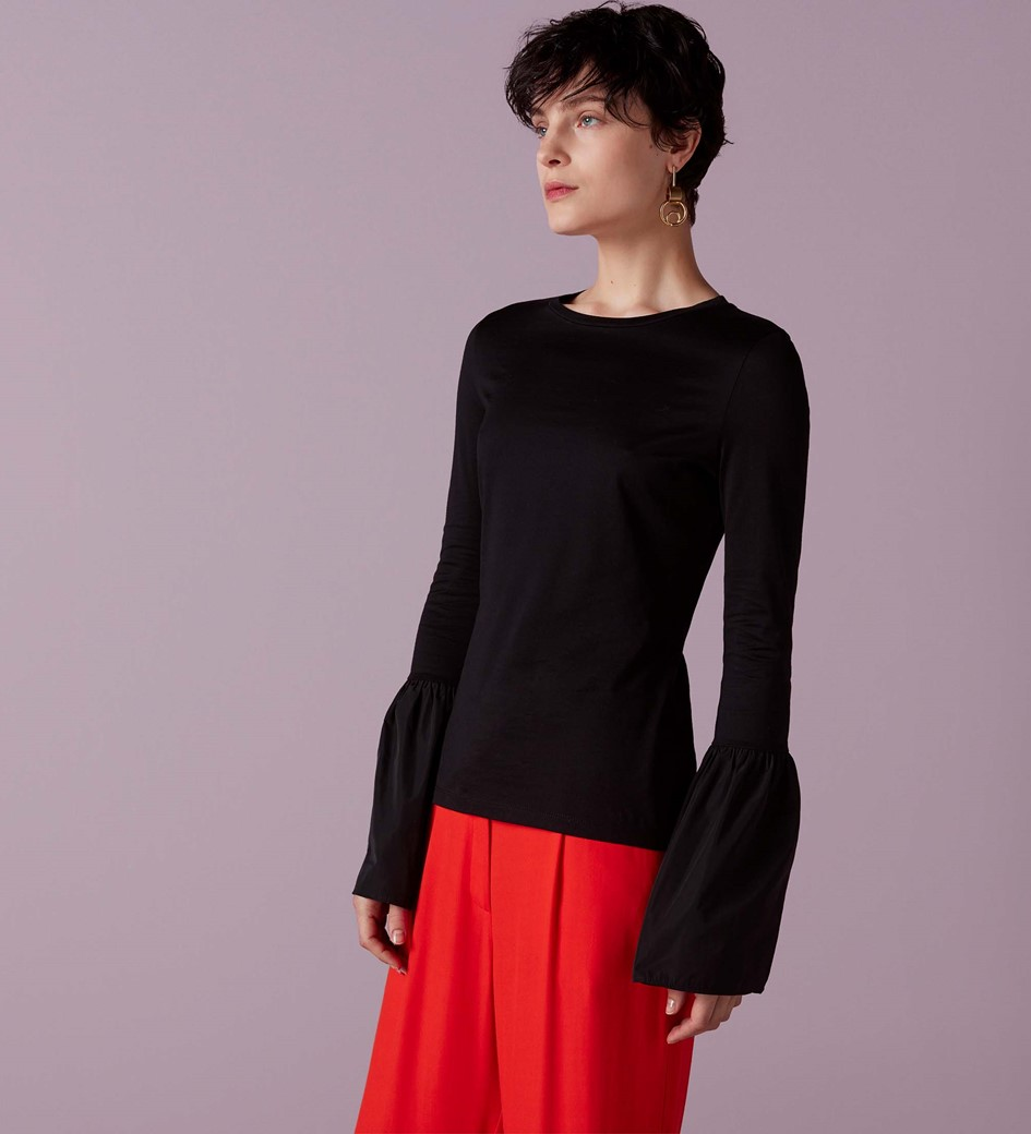 Florence Flute Sleeve Jersey Top