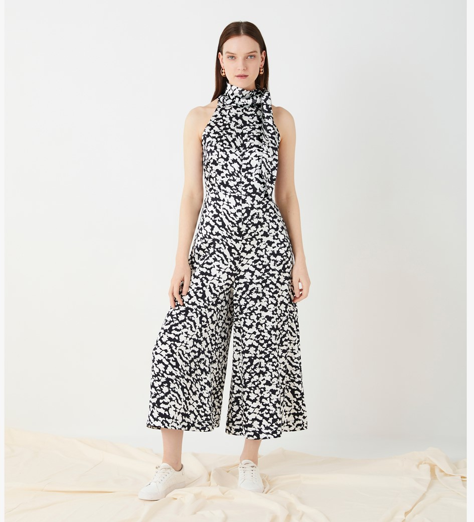 Maryon Printed Cropped Jumpsuit