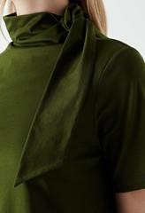 Cyrus Tie Neck Jersey Top