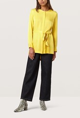 Wilda Sunglow Yellow Belted Blouse