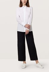 Silvana White Fitted Cotton Shirt