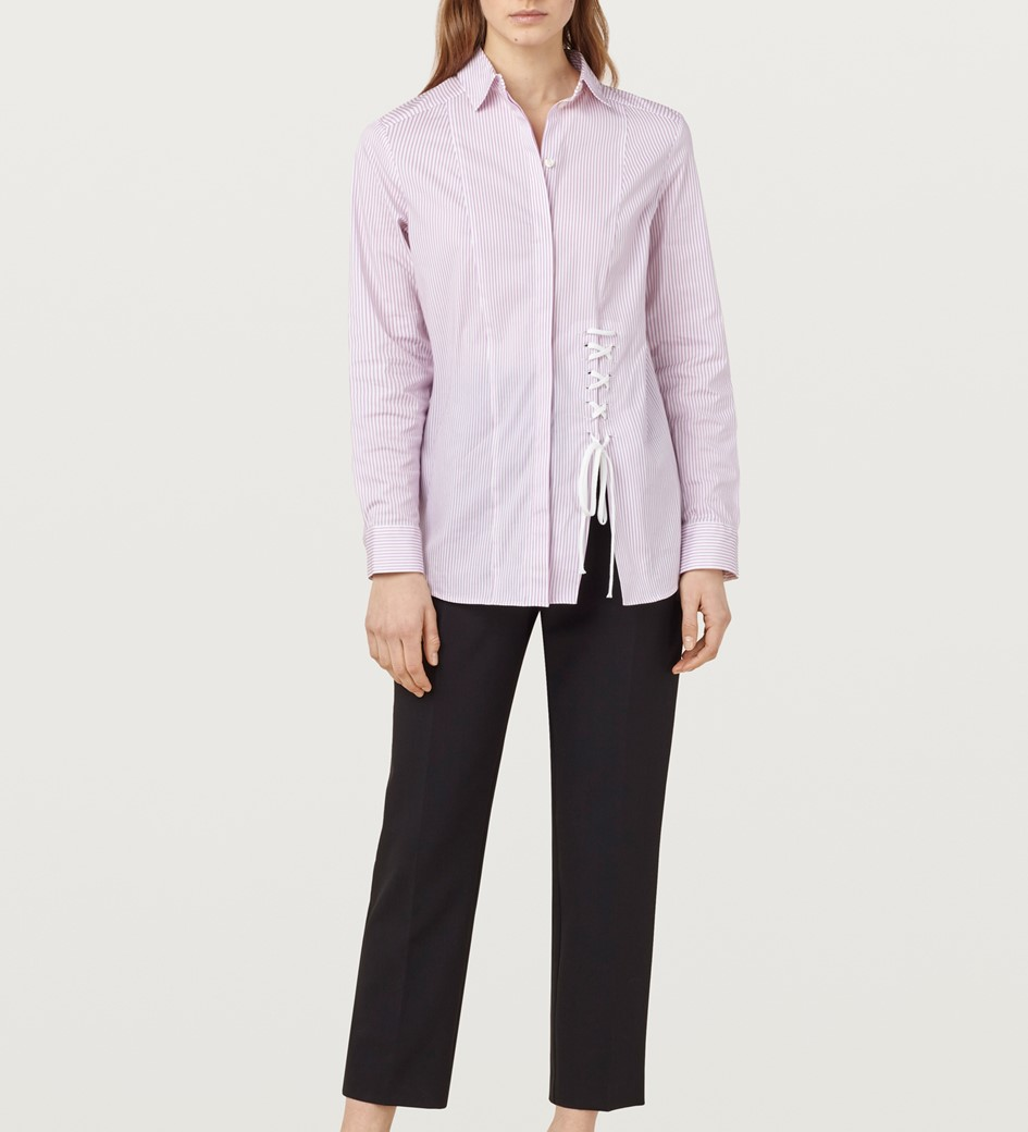 Grainger Pink And White Striped Shirt