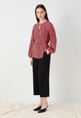 Perrin Printed Wrap Top