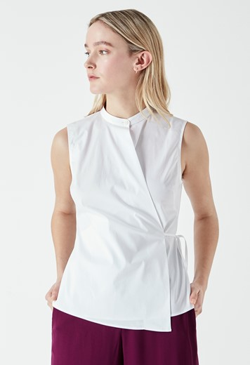 Austin Sleeveless Poplin Shirt