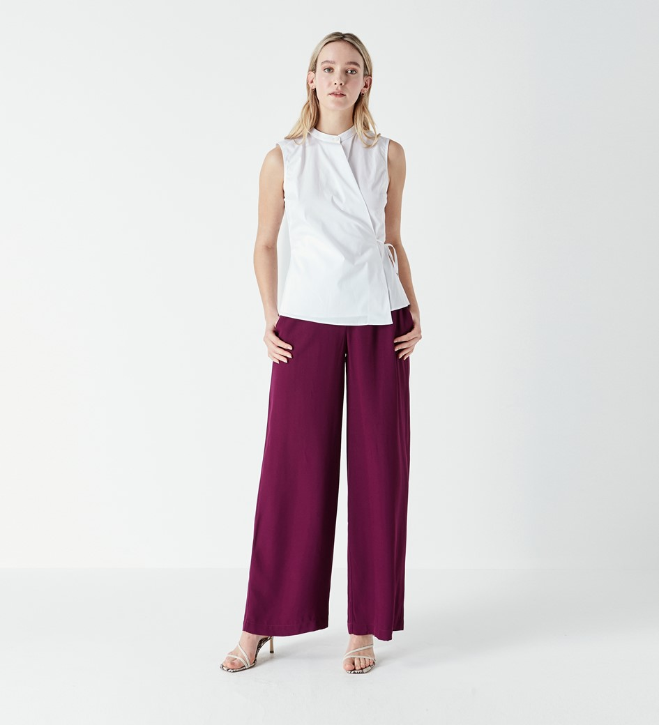 Austin Sleeveless Poplin Shirt