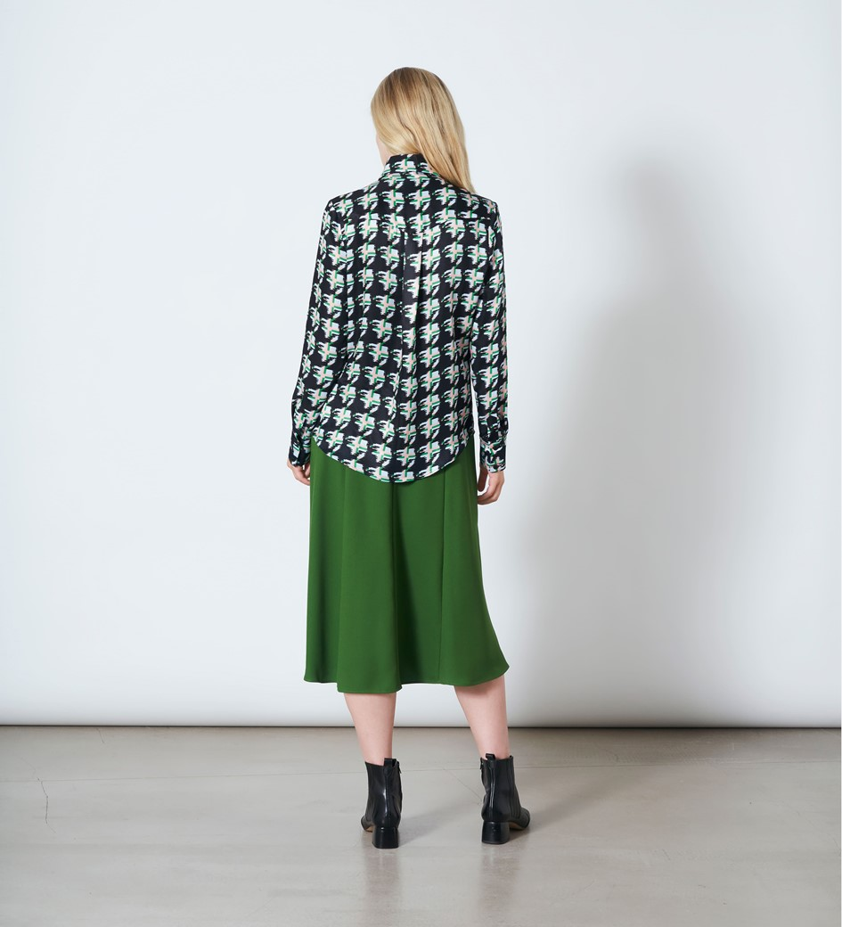Ludlow Houndstooth Print Blouse