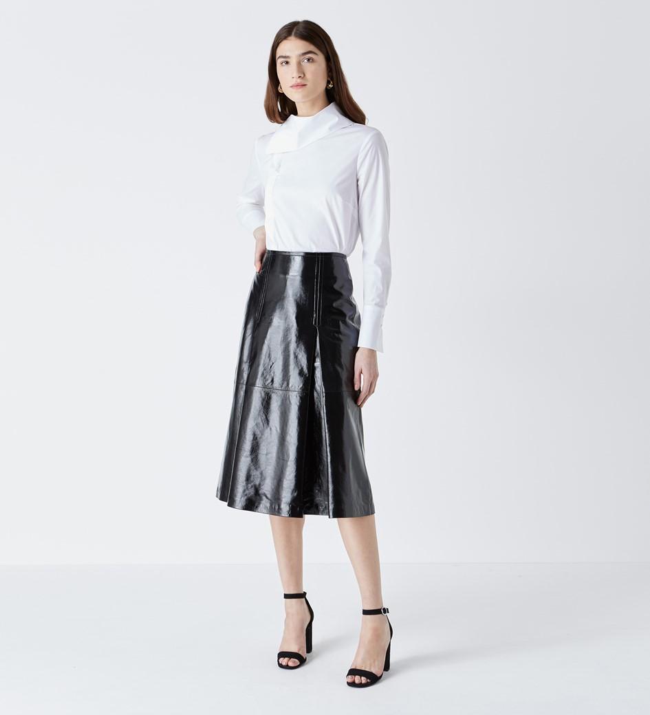 Delilah White Poplin Shirt