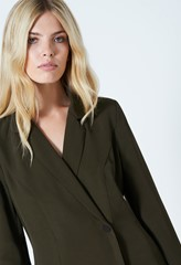 Meryl Khaki Button Top