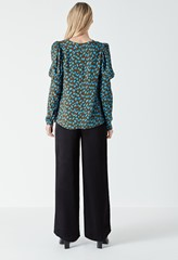 Lena Long Sleeve Printed Top