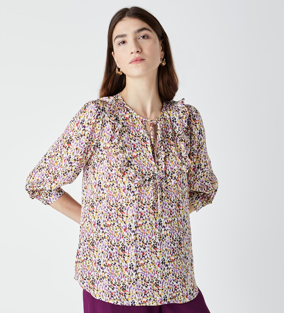 Makenna Frill Placket Top
