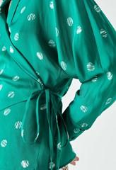 Landyn Print Wrap Top