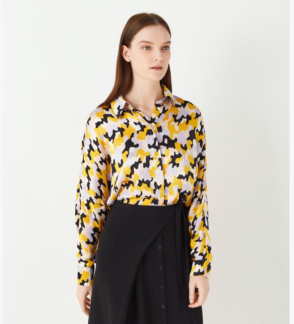 Eris Printed Satin Shirt