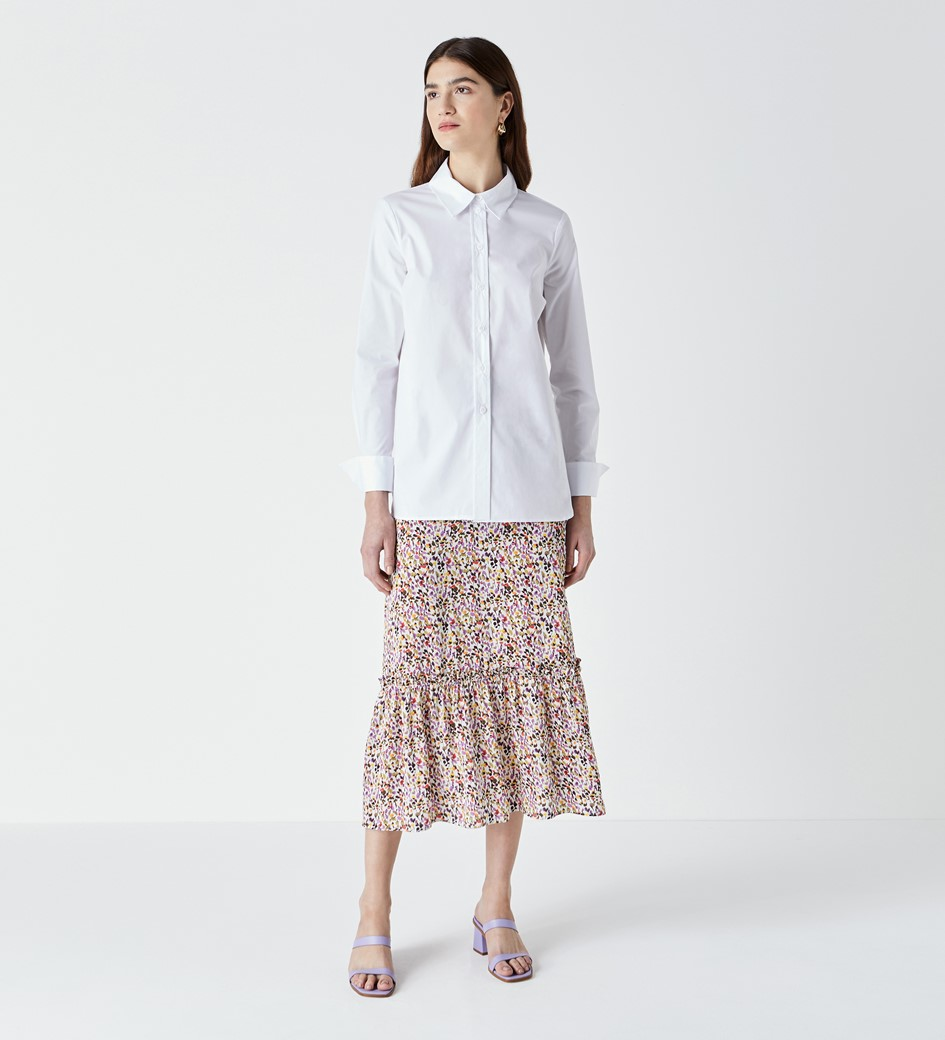 Dillon White Poplin Shirt