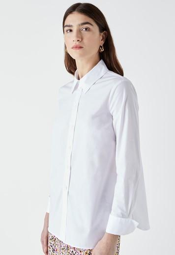 Dillon White Poplin Shirt