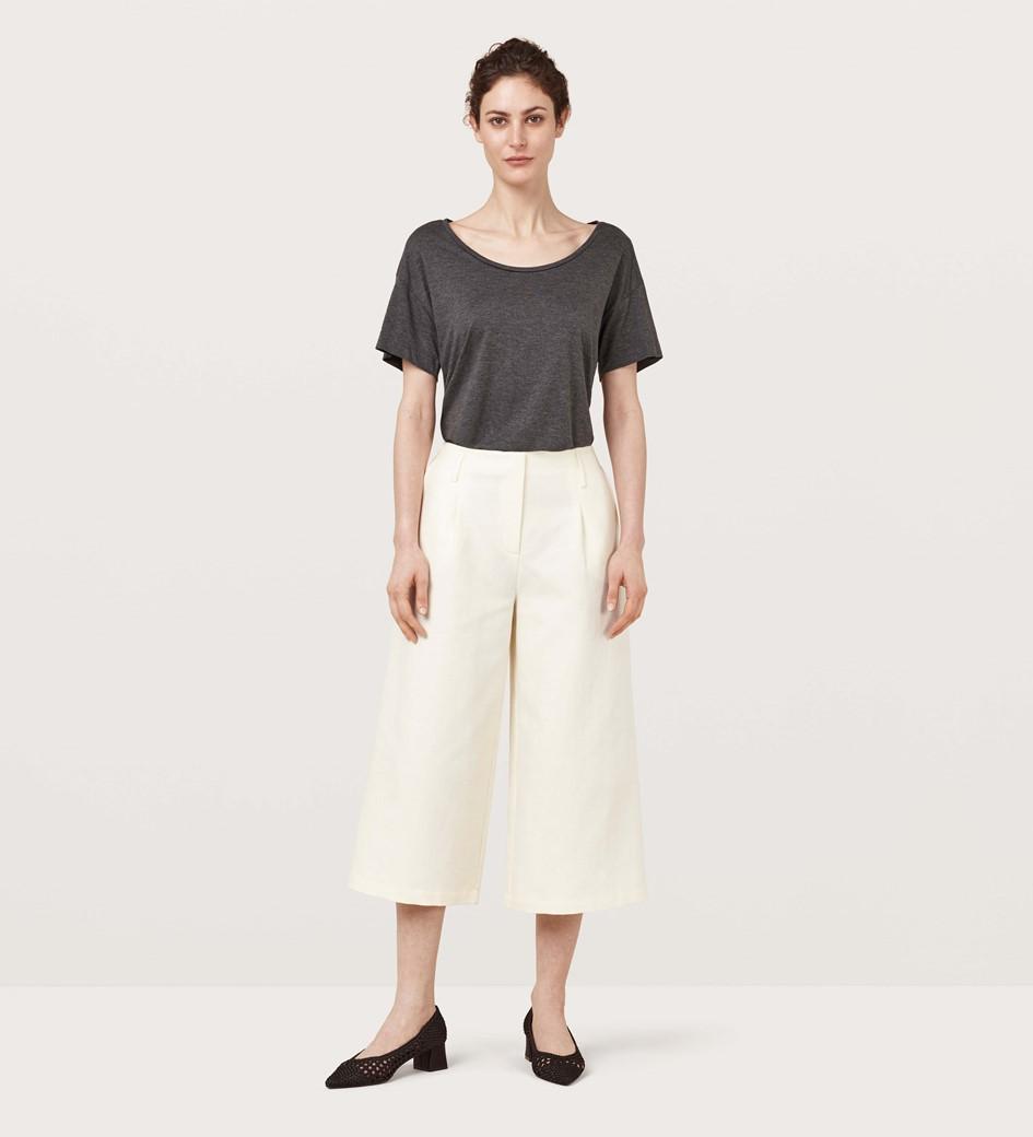Pascal Ivory Cotton Linen Culottes