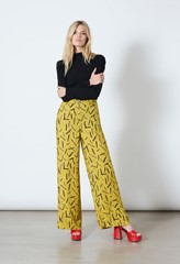 Ashbridge Matchstick Print Trousers