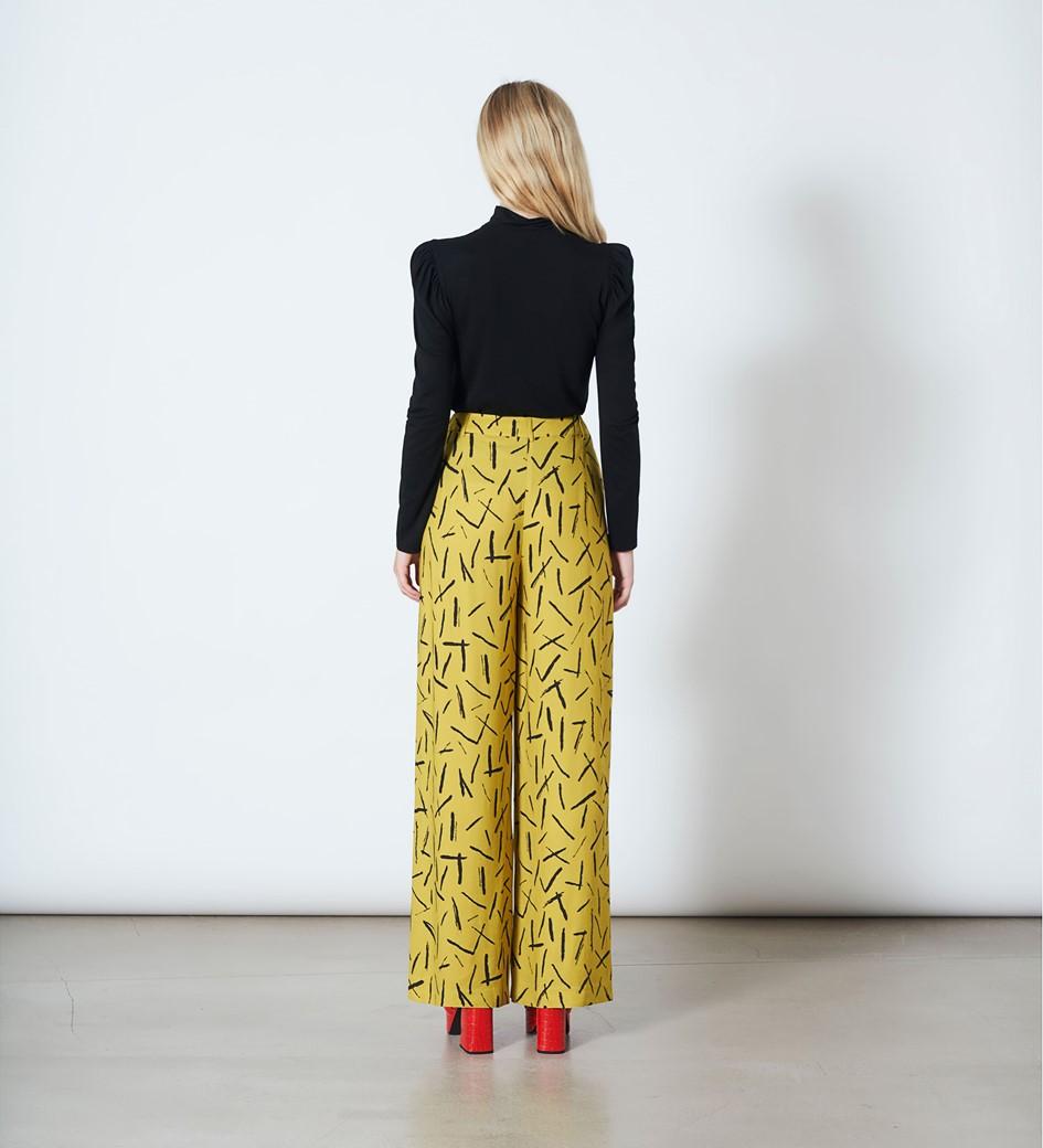 Ashbridge Matchstick Print Trousers