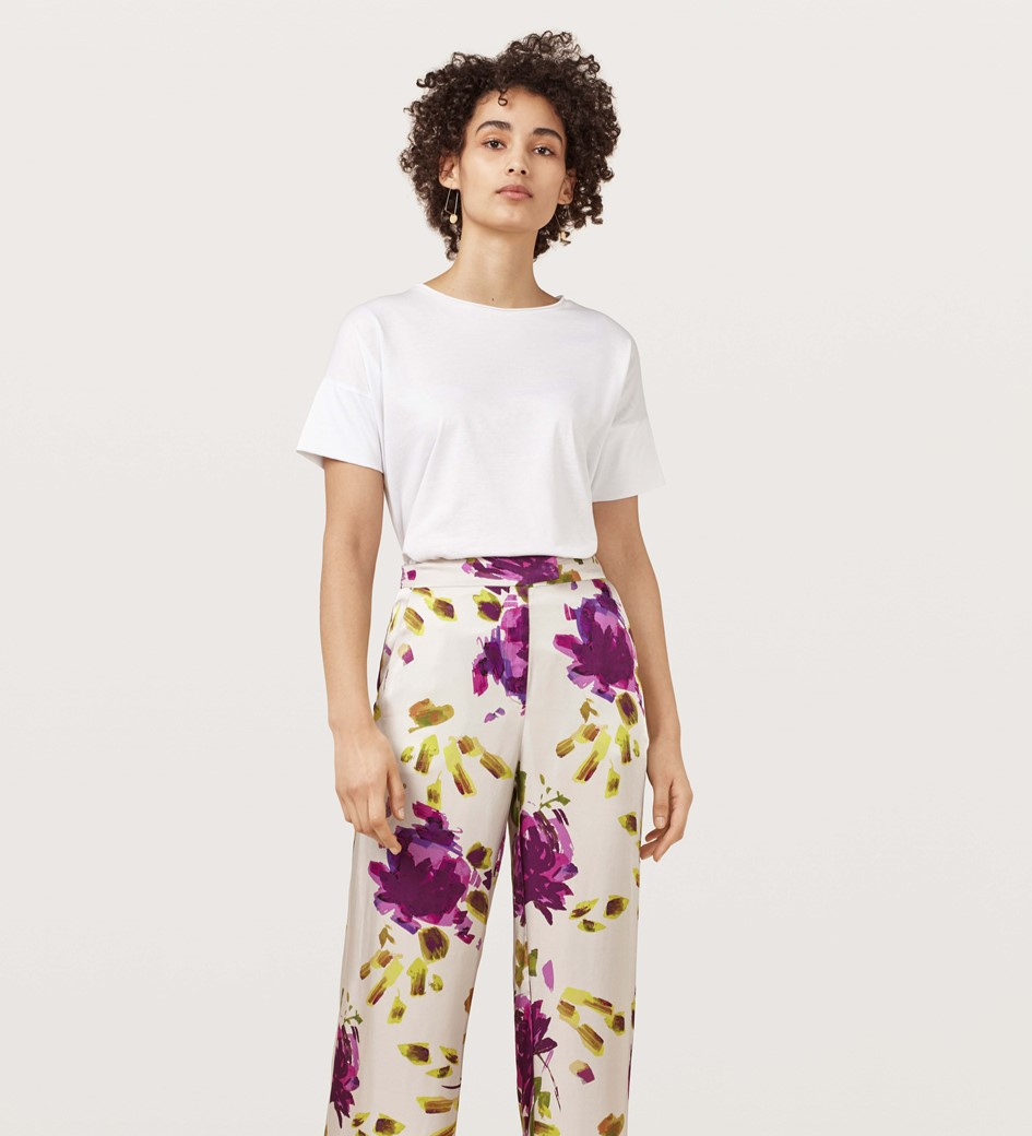 Abelia Artist Flower Wide Leg Trousers