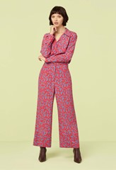 Rosalie Shadow Floral Print Cropped Trousers