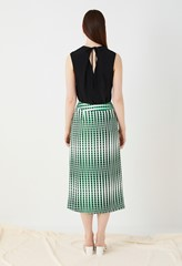 Lisson Printed Satin Wrap Skirt